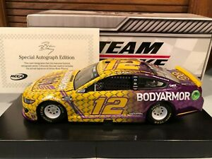 Autographed 2020 Action Ryan Blaney #12 Bodyarmor Kobe Tribute 1/24 Color Chrome