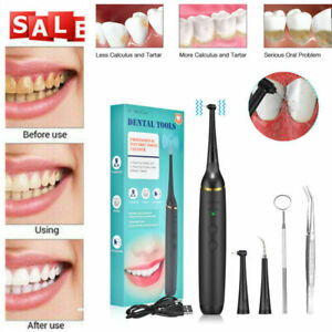Ultrasonic Electric Dental Calculus Remover Tartar Scaler Scraper Tooth Cleaner