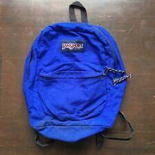 Vintage Jansport 90s Blue Nylon Backpack Black Shoulder Straps Made In USA