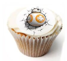 BB8 Star Wars Birthday Cupcake Toppers x20 Rice Paper or Icing, Personal. 94