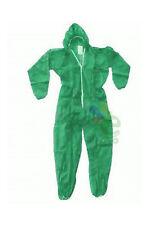 10 Tute protettive in plpda lavoro in colore verde  con cerniera di facile uso