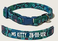 Personalized Teal-Dazzle Kitty Cat Safety Collar Breakaway Buckle Adjustable