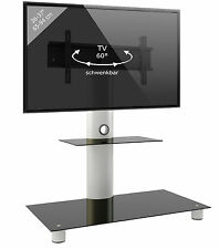 VCM Universal TV Presentation Screen Stand Bracket Pedestal Alu with Glass