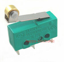 100PCS MICRO SWITCH KW4 LIMIT SWITCH 3pin N/O N/C With  Roller lever
