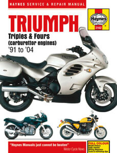 Tiger Triumph Haynes Motorcycle Service Repair Manuals For Sale Ebay