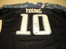 Vince Young Autographed Titans Authentic Reebok Jersey
