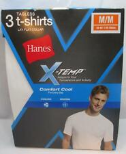 Hanes Mens X-Temp Crewneck White Tagless Undershirt T-Shirt Medium 3 Pack 2535x3