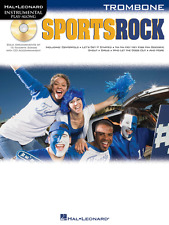 "Instrumental Play-Along-Trombone ""Sports Rock"" Music Book/Cd-Brand New On Sale!"