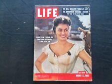 1955 AUGUST 22 LIFE MAGAZINE - SOPHIA LOREN - L 969