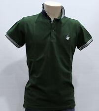 BEVERLY HILLS polo club, Polo Uomo Manica Corta Cotone Colore Verde Tg XL