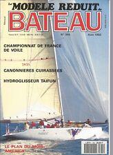MODELE REDUIT DE BATEAU N°345 CANONNIERE CUIRASSEES / HYDROGLISSEUR / AMARICA