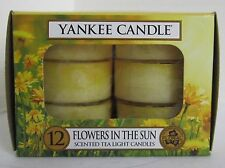 Yankee Candle 12 Scented Tea Light T/L Box Candles FLORAL Flowers in the Sun
