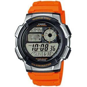 Casio Digital Men Watch New in Box ae-1000w-4bvef Sport World Time Water Resist