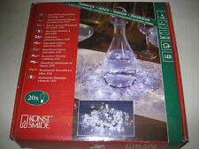 Konstsmide 1265-200 LED Lichtertkranz Dekorkanz 25cm mit Acryl Glasperlen klar