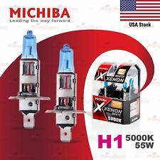 2x H1 448 MICHIBA 12V 55W Headlight Halogen Bulbs Lamp 5000K WHITE for LOW BEAM