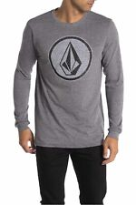Volcom Orderly Long Sleeve Graphic Tee Heather Grey Size Large NWT