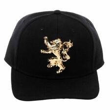 Game of Thrones Lannister Sigil Black Snapback Cap Baseball Hat - One Size