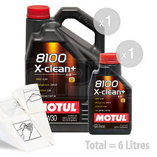 Car Engine Oil Service Kit / Pack 6 LITRES Motul 8100 X-Clean+ 5W-30 6L
