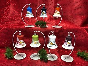Glocke Mini Glas Christbaum Schmuck Baumbehang Weihnachtsbaum Handarbeit Lauscha