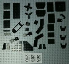 Lego Black Plates, car roofs, wedges, propellers etc W208-10