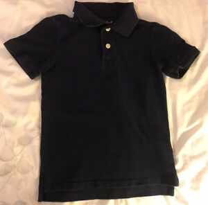 Cat & Jack Boy's Short Sleeve Navy Polo in Size S(6/7)