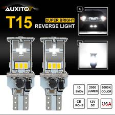 2x T15 Super White 12-14V 3020 1000LM CANBUS LED Backup Bulbs 921 Reverse Light