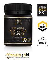 Aktiver Manuka Honig 80+ BeeNZ | aus Neuseeland | MGO 83 mg/kg | UMF™5+ | 1000g