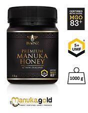 BeeNZ echter originaler authentischer Manuka Honig MGO 83 mg/kg UMF™5+ 1000g