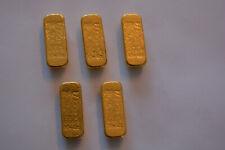 Vintage MERRILL LYNCH 1 OZ Old Pour RARE GOLD BULLION BAR 999.9 PURE GOLD RARE!!