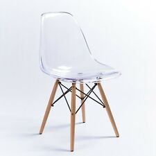 Beautiful Ghost Clear Acrylic Style Office Dining Transparent Wood Chair