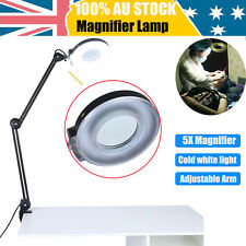 Magnifying Lamp 20Inch SMD 5 Diopter magnifier desk light Black 5X Beauty AU