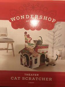 WONDERSHOP DOUBLE DECKER THEATRE CAT SCRATCHER HOUSE - BRAND NEW
