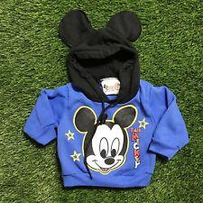 Vintage 1980s Disney Babies Newborn Mickey Mouse Hoodie Sweatshirt Ears