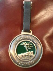 Vintage Pebble Beach Resorts 1919 Bag Tag. Golf Golfers Tag Medallion Complete