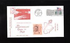 Space NASA Local Post 5c Tied Gemini VII Splashdown Houston James Lovell Cover !