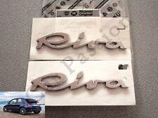 Paar Emblem geschriebenes Fiat 500 Riva Seitenlichter links + rechts Logo