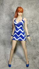 1:6 Scale Blue stripe Women's Dress For 1/6th HT PH Female Figure Doll Toys