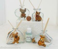 Stock Bomboniere profumatori vetro con animaletti battesimo comunione compleanno
