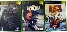Lot of 3, Peter Jackson's KING KONG, SYBERIA, Open Season, Xbox Games