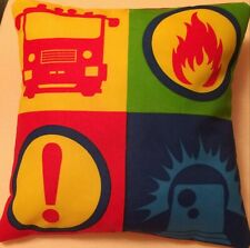 Fireman Sam Fire Engine Handmade cushion cover/pillow case 12 inch x 12 inch