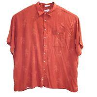 Pierre Cardin Floral Hawaiian Short Sleeve Button Front Shirt Men's Size 4XL