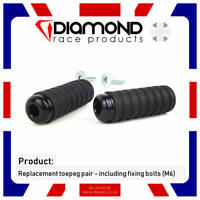 DIAMOND RACE PRODUCTS - REPLACEMENT TOEPEGS TOE PEGS PAIR M6 BOLT FOR REARSETS