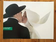 UNITED COLORS OF BENETTON, BY OLIVIERO TOSCANI RARE  AUTHENTIC 1990's ART PRINT