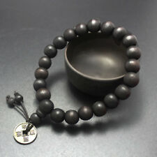 Mens Wood Buddha Buddhist Prayer Beads Tibet Bracelet Mala Bangle Wrist XR PE