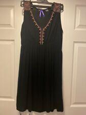 Seraphine Black Embroidered Maternity & Nursing Dress, size 12