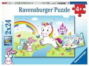 Ravensburger Puzzle 078288 Märchenhaftes Einhorn 4+ Jahre 2x24 Teile