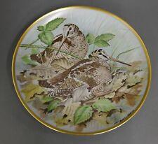 Wandteller Franklin Porcelain 1979 Limoges Gamebirds of the world Woodcock #1
