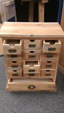 13 Drawer  (Unfinished) Hardwood made from Mahogany  Raw Wood Chest of Drawers