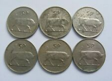 Irish Five Pence Coins Larger Issue Six Old Ireland 5p 1971 1975 1978 1980