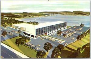 Cranston, Rhode Island Postcard COLONY MOTOR HOTEL Artist's View c1960s Unused